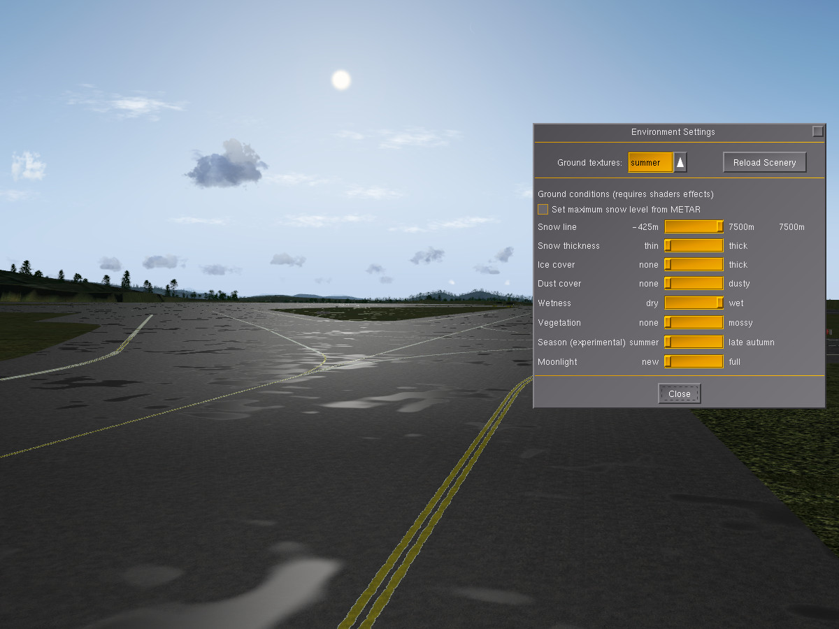 Simulating the ever-changing scenery – FlightGear Flight Simulator