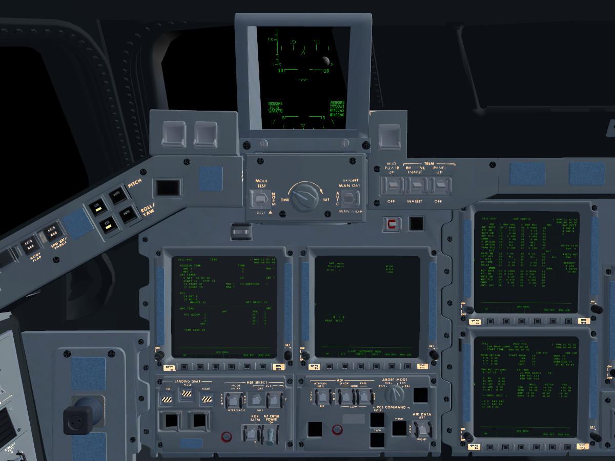 Space Shuttle Instrument Panel : Flightgear forum view topic space shuttle