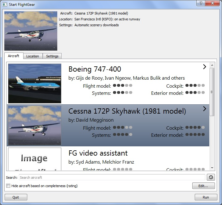 Qt_launcher_for_FlightGear_3.5_on_Windows_7